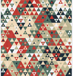 grungy geo funky triangle graphic motif swatch vector image