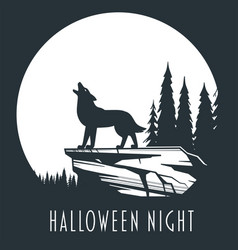 halloween night concept 01 vector image