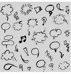 hand drawn design elements set vector image
