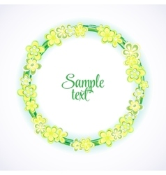 Hand drawn floral frame card Colorful vector image