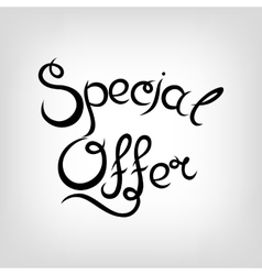 Hand-drawn Lettering Special Offer vector image vector image