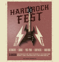 Hard rock music festival flyer poster vector
