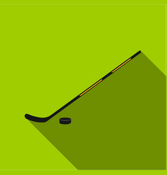 hockey icon flate single sport icon from the big vector image
