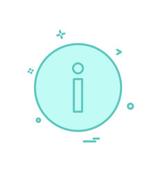 info icon design vector image