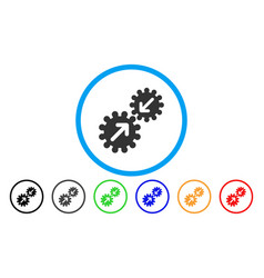 Integration gears rounded icon vector