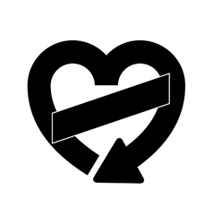 Isolated recycle heart sign design vector