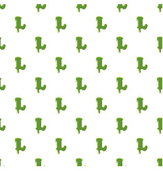 letter l made of green slime vector image