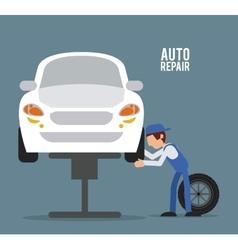 Mechanic auto rapair icon graphic vector