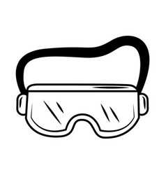 Medical wear goggles protective equipment sketch vector