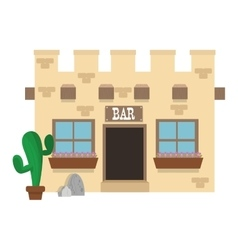 old west bar icon vector image