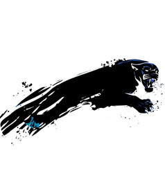 painted panther vector image