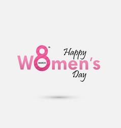 Pink women typographical design elements vector