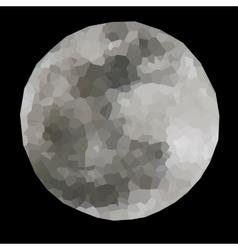 Polygonal full moon vector