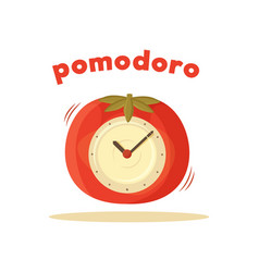 pomodoro clock card colored vector image