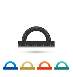 protractor grid for measuring degrees icon vector image