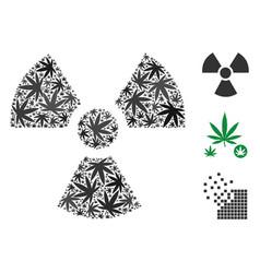 Radioactivity composition of hemp leaves vector