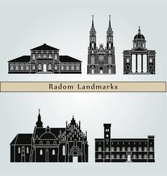 radom landmarks vector image