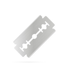 Razor blade on white background vector