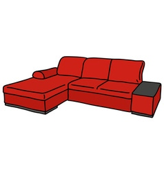 Red couch vector