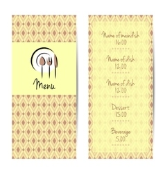Restaurant or cafe menu design vector image