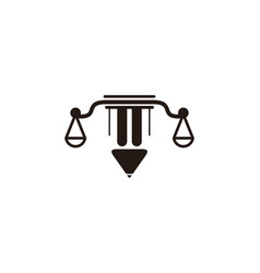 scales law firm logo designs inspiration isolated vector image