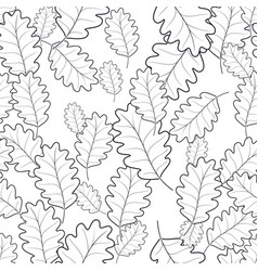 seamless pattern of autumn foliage vector image