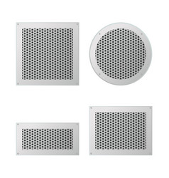 Set of ventilation grilles vector