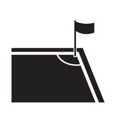 soccer corner icon design vector image
