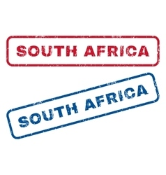 South Africa Rubber Stamps vector image