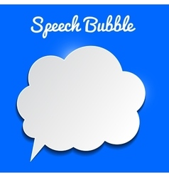 Speech bubble on blue background vector
