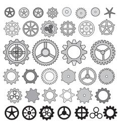Steampunk collection machine gear wheel cogwheel vector image vector image