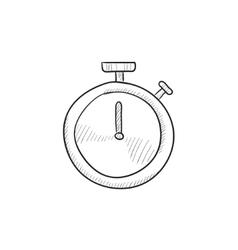 Stopwatch sketch icon vector image