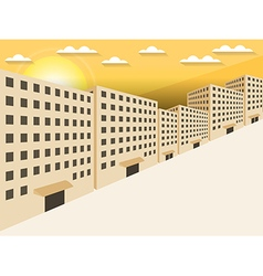 Sunrise in the city vector