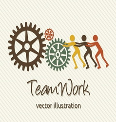 Teamwork card vector image