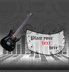 The poster with an electric guitar vector