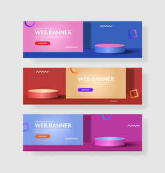 website banner ui ux vector image
