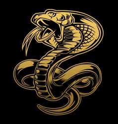 X9animals art attack black cartoon cobra vector