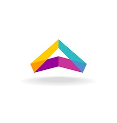 Abstract triangle 3D colorful triangle geometric vector image