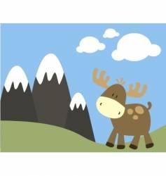 Baby moose vector