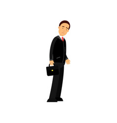frustrated businessman character standing with vector image