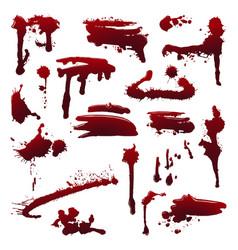 ink splatters vector image
