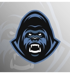 Angry gorilla symbol emblem sport logo vector