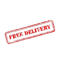 Free delivery rubber stamp vector image vector image