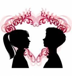 loving couples vector image vector image