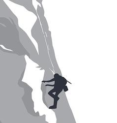 Mountain hike adventure vector