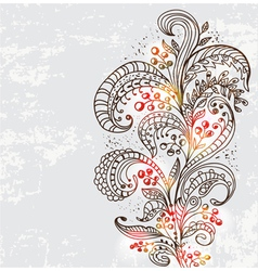 natural floral ornament vector image vector image
