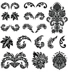 Vector victorian ornament set vector
