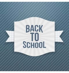 Back to School striped Tag vector image