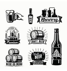 beer badges vector image vector image