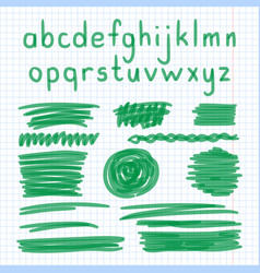 marker hand written doodle letters and symbols vector image